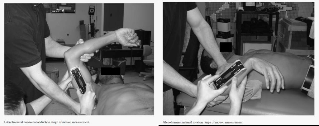 肩関節の関節可動域の測定