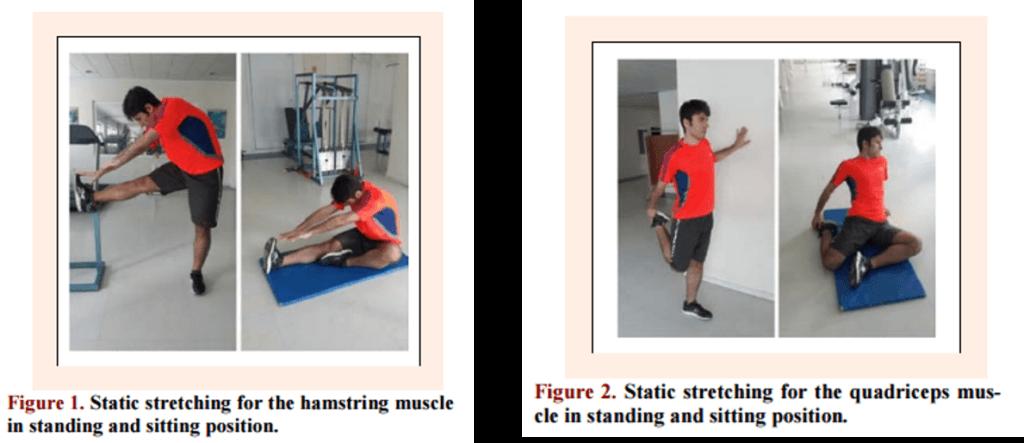 大腿四頭筋とハムストリングスの静的ストレッチの方法