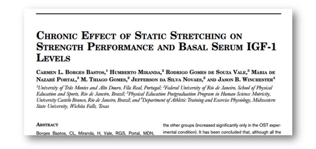 静的ストレッチがホルモン分泌と筋力向上に与える影響