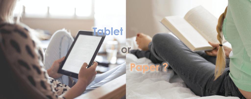 デジタルか紙か