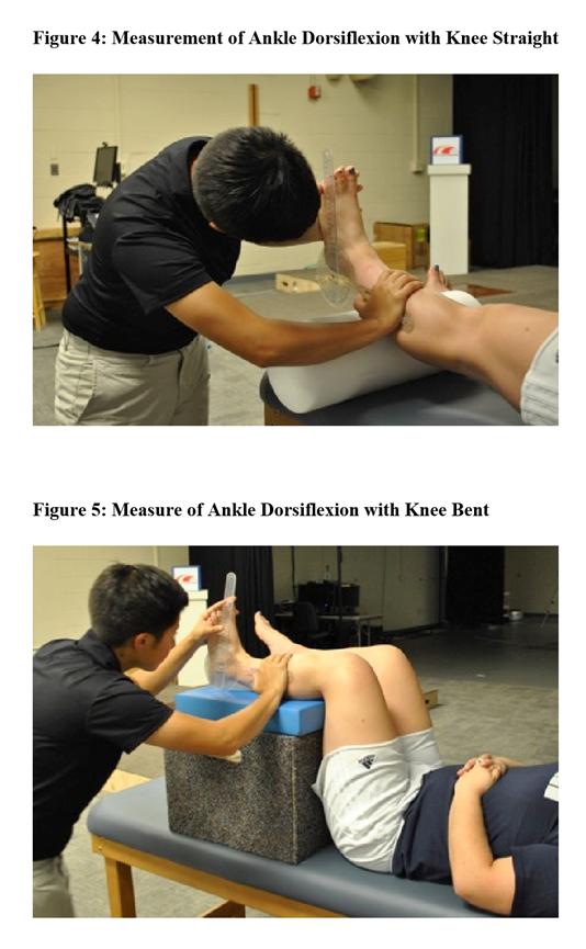 足関節背屈可動域の測定